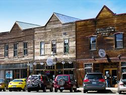 Roslyn clapboard building facades