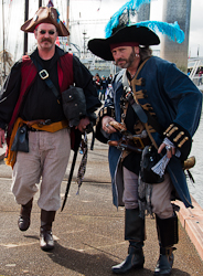Pirates on the pier