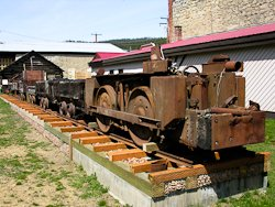 Coal car in front of Roslyn museum