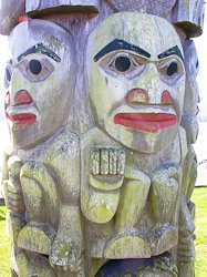 Totem Pole at Port Ludlow lookout point